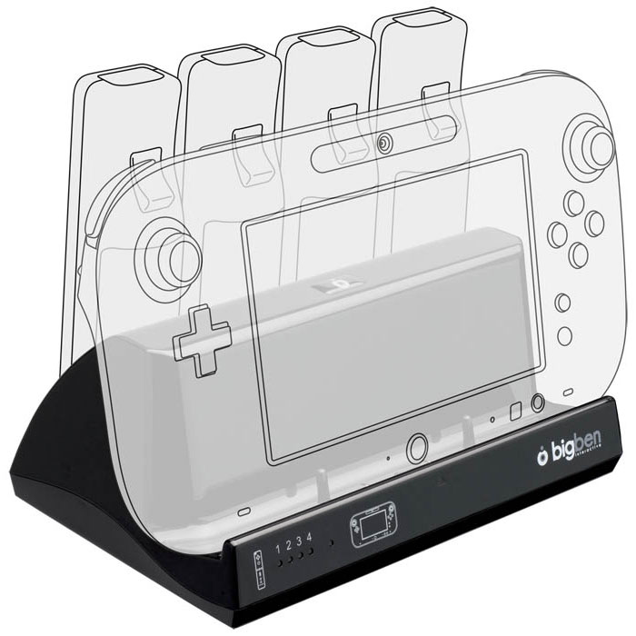 bigben kit de recharge avec 4 batteries wii wii u accessoires wii u bigben interactive sur. Black Bedroom Furniture Sets. Home Design Ideas
