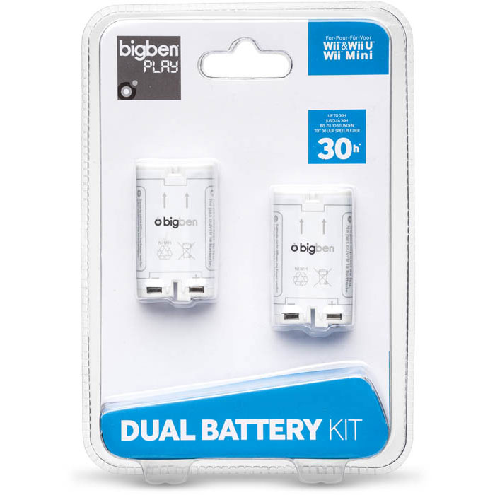 Bigben Dual Battery Kit (Wii/Wii U) - Accessoires Wii ...