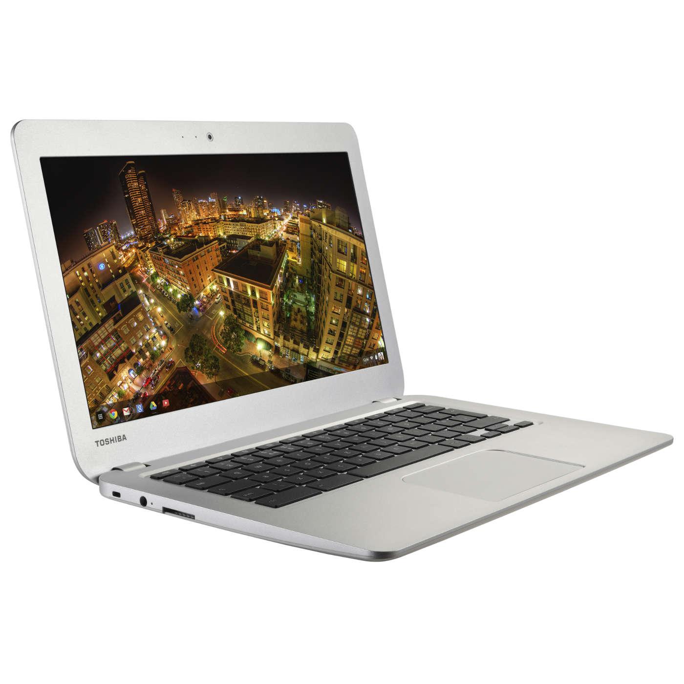 "PC portable Toshiba Chromebook CB30-102 Intel Celeron 2955U 2 Go SSD 16 Go 13.3"" LED HD Wi-Fi N/Bluetooth Webcam Google Chrome OS"