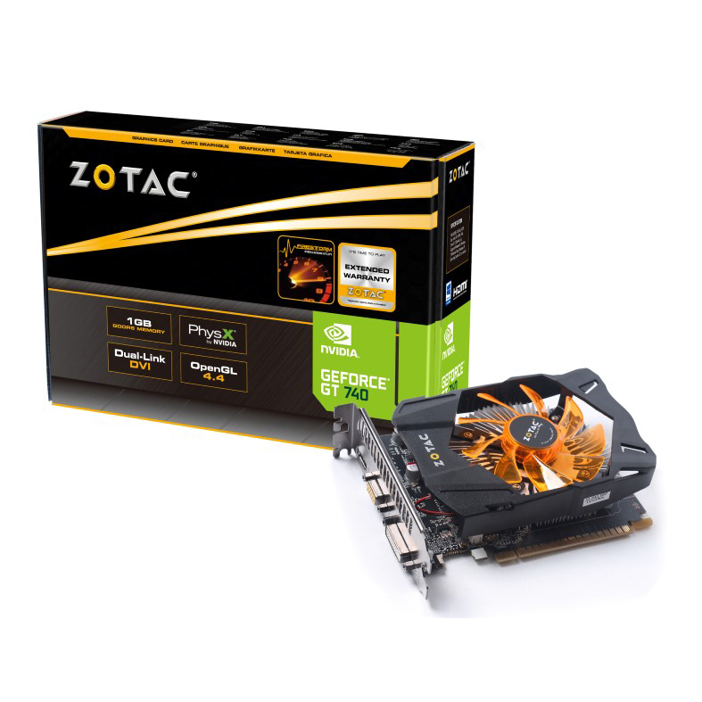 Carte graphique ZOTAC GeForce GT 740 1 GB 1 Go HDMI/DVI - PCI Express (NVIDIA GeForce avec CUDA GT 740)