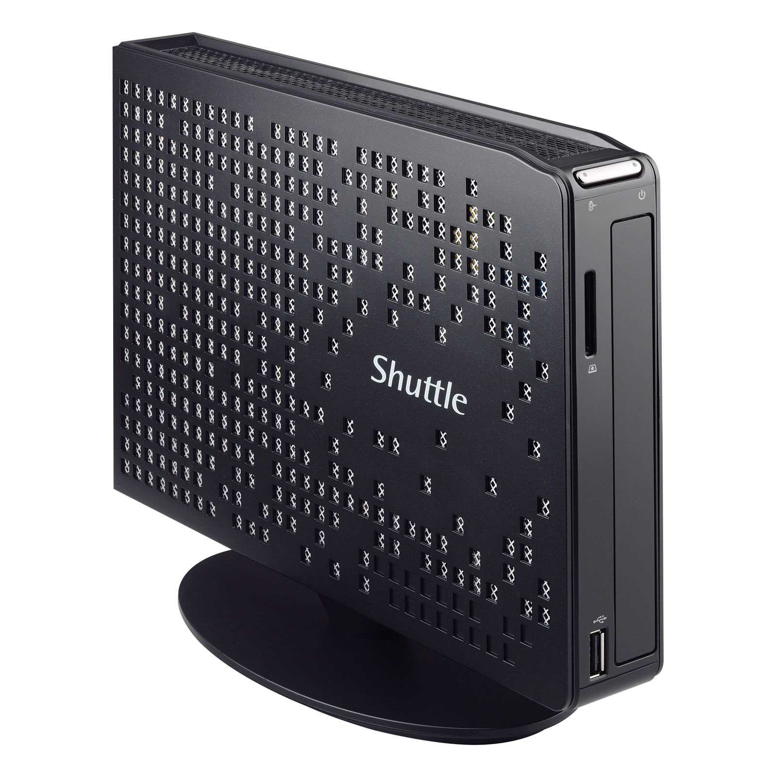 Barebone PC Shuttle XS35V4 Mini-Barebone Intel Celeron Quad Core J1900 - 1 x SO-DIMM DDR3L - SATA 3Gb/s - USB 3.0 - Wi-Fi N - Gigabit LAN (sans écran/mémoire/disque dur)