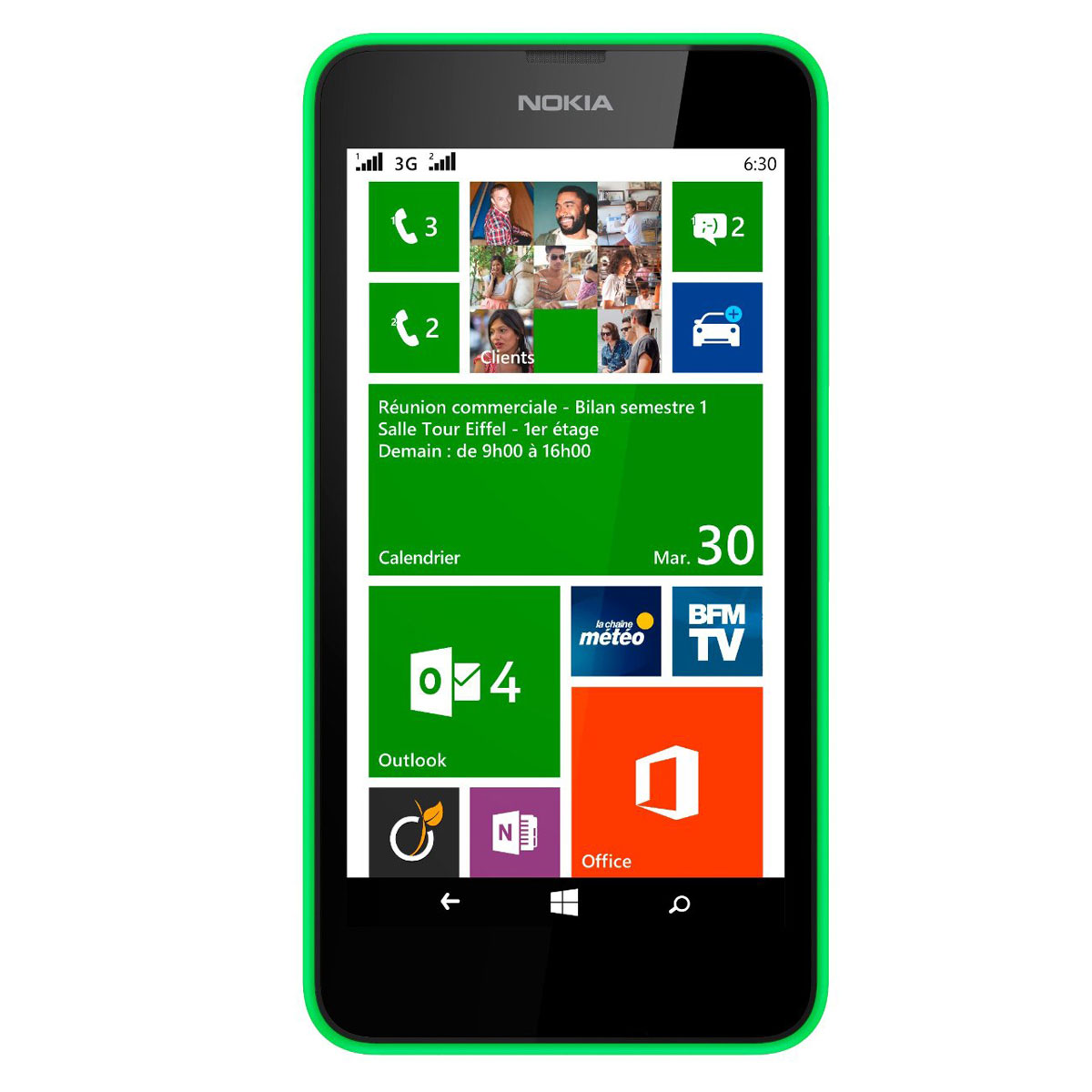 nokia lumia 630 dual sim vert mobile smartphone nokia sur. Black Bedroom Furniture Sets. Home Design Ideas