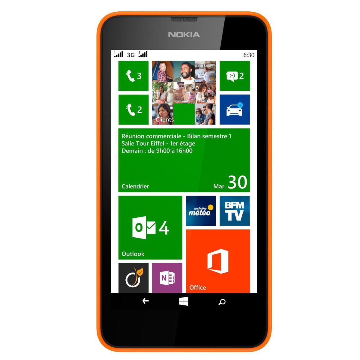 nokia lumia 630 dual sim orange mobile smartphone nokia sur. Black Bedroom Furniture Sets. Home Design Ideas