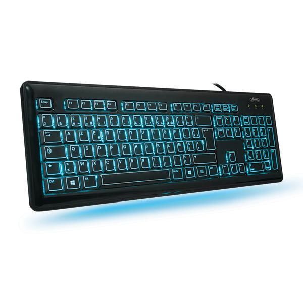 Clavier PC Advance Keylight LED Clavier chiclet à rétro-éclairage 3  couleurs (AZERTY, 0a0229461670