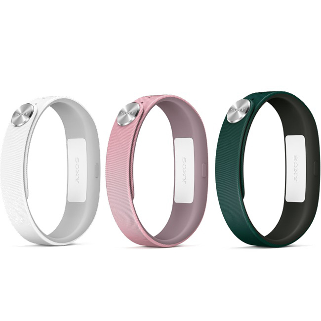 Montre & Bracelets connectés Sony Bracelets Fashion S Blanc/Rose/Vert Lot de 3 bracelets de taille S pour Sony SmartBand
