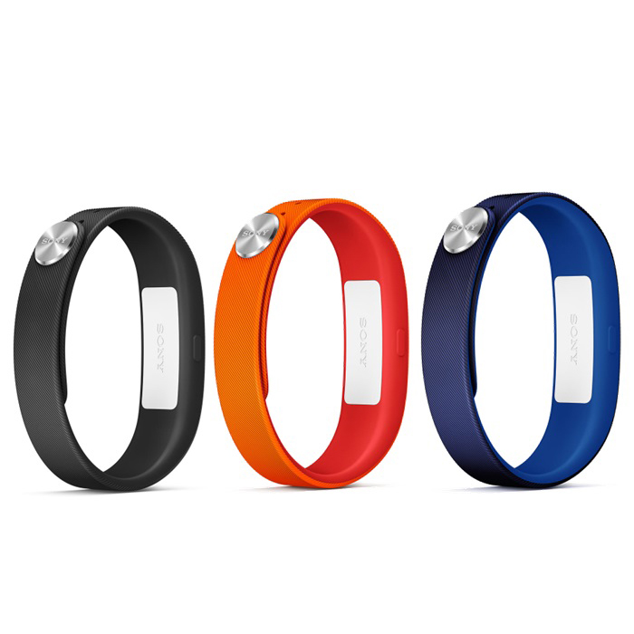 Montre & Bracelets connectés Sony Bracelets Classique S Noir/Marine/Rouge Lot de 3 bracelets de taille S pour Sony SmartBand