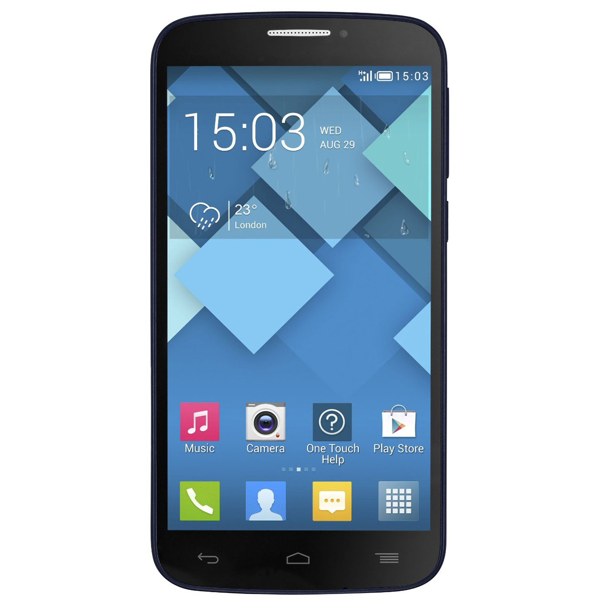 alcatel one touch pop c7 noir mobile smartphone. Black Bedroom Furniture Sets. Home Design Ideas