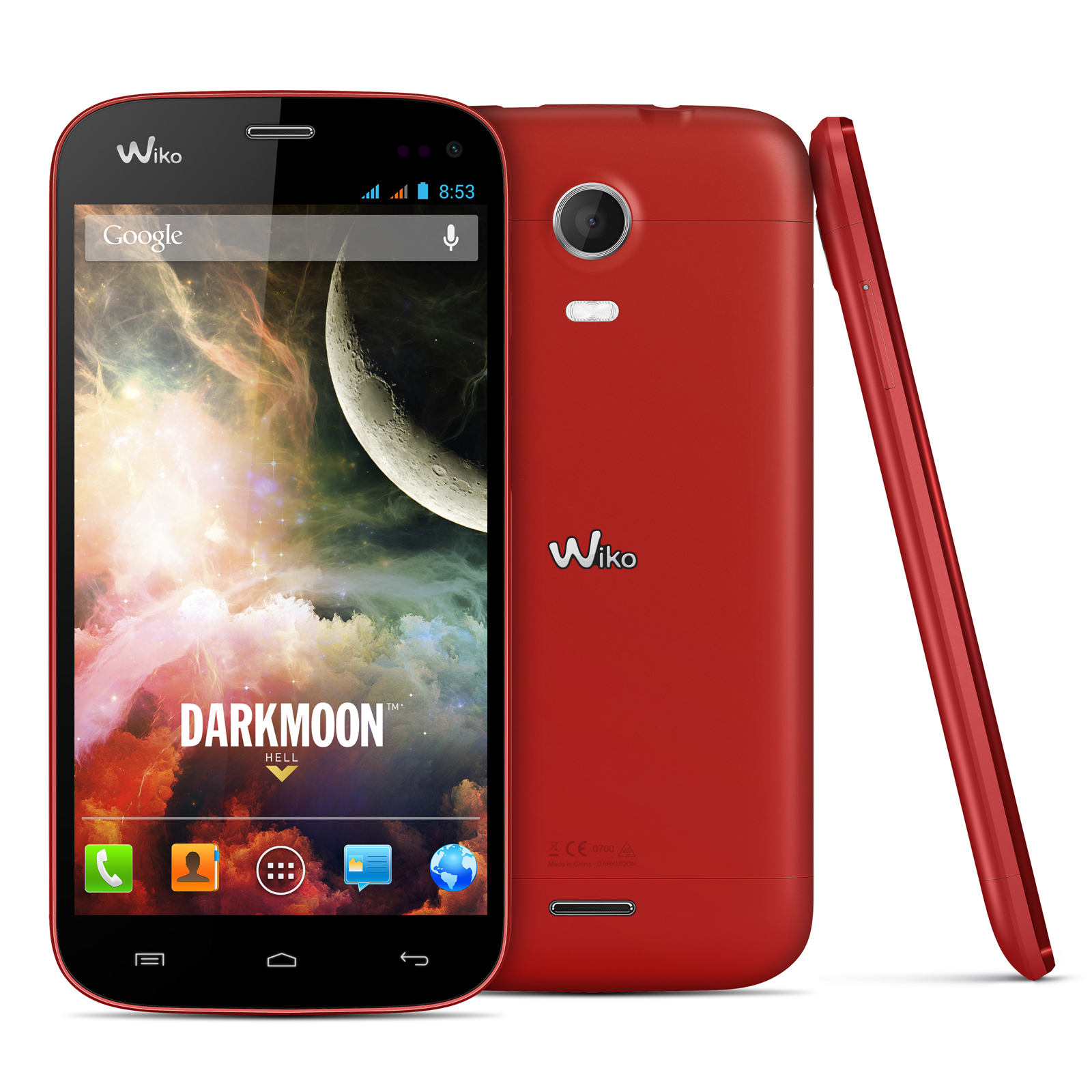 Wiko darkmoon rouge mobile smartphone wiko sur for Photo ecran android 7