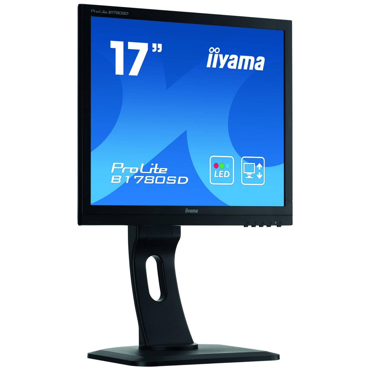 """Ecran PC iiyama 17"""" LED - ProLite B1780SD-B1 1280 x 1024 pixels - 5 ms - Format 4/3 - Pivot - Noir"""