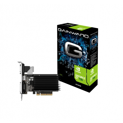 Carte graphique Gainward GeForce GT 730 2048MB DDR3 SilentFX 2 Go HDMI/DVI - PCI Express (NVIDIA GeForce avec CUDA GT 730)