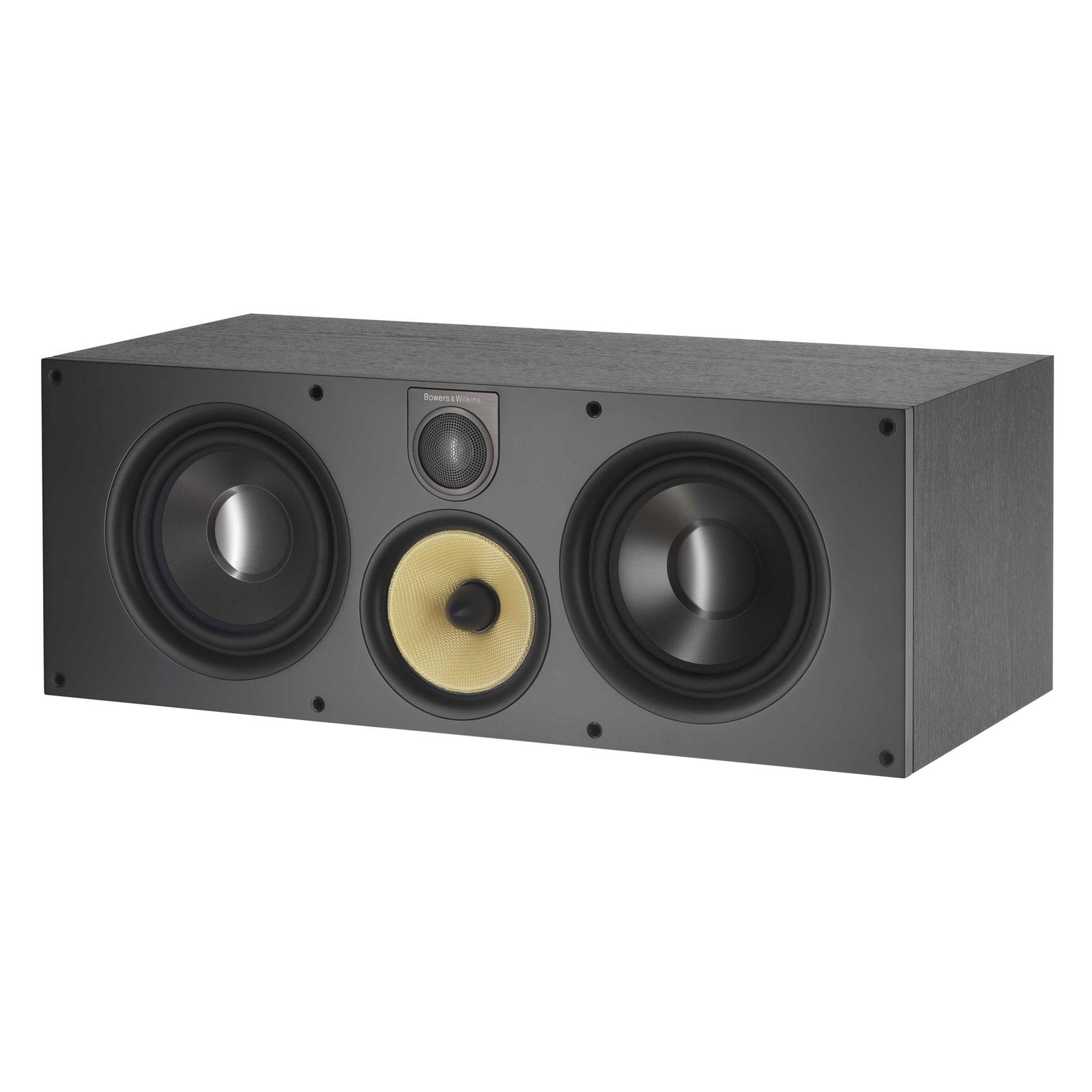 Enceintes Hifi B&W HTM61 S2 Black Ash Enceinte centrale pour installation Home Cinéma et Hi-Fi