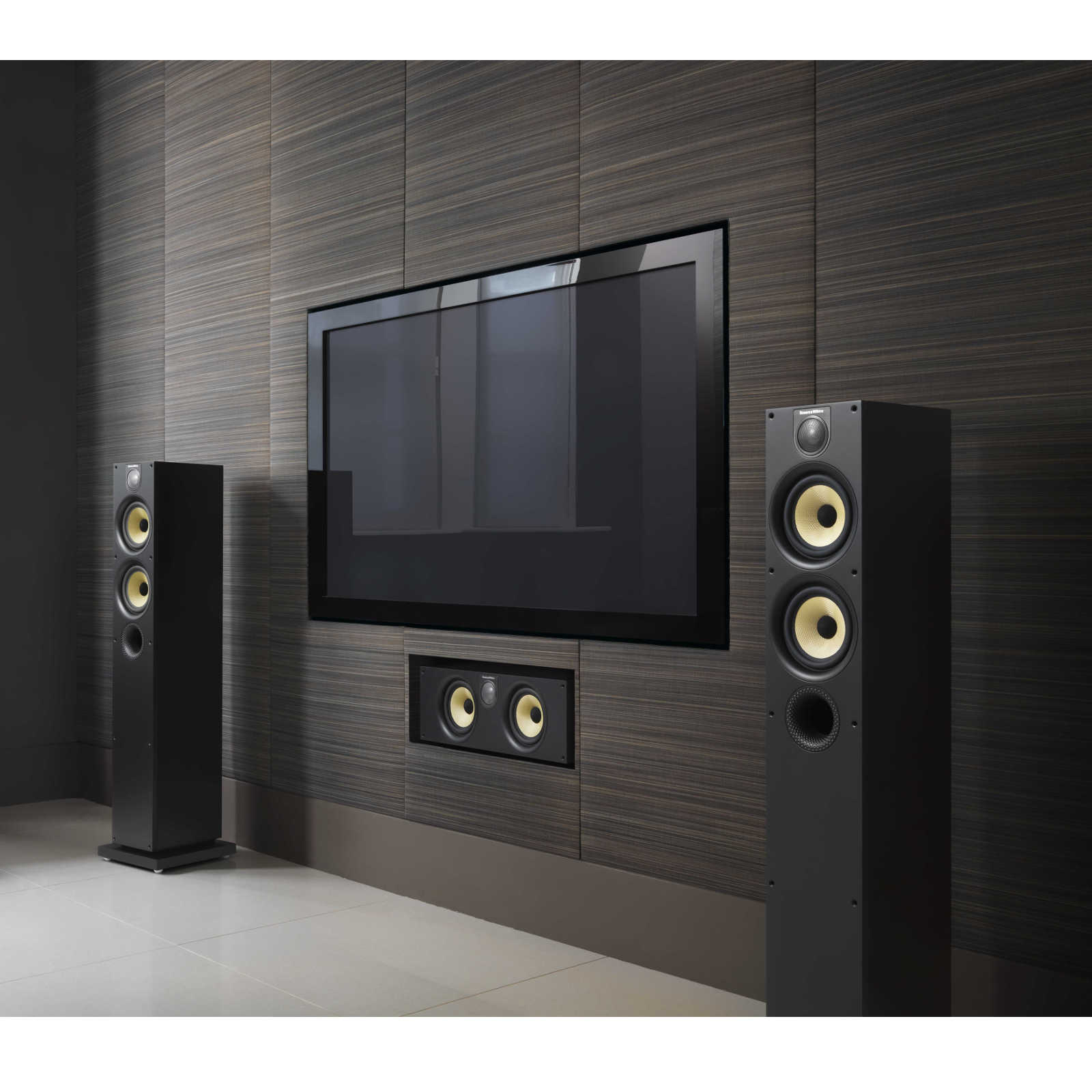 B w htm62 s2 black ash enceintes hifi bowers wilkins - Meuble tv barre de son integree ...