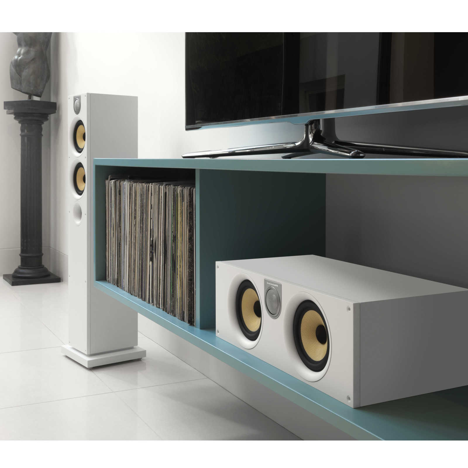 b w htm62 s2 blanc enceintes hifi bowers wilkins sur. Black Bedroom Furniture Sets. Home Design Ideas