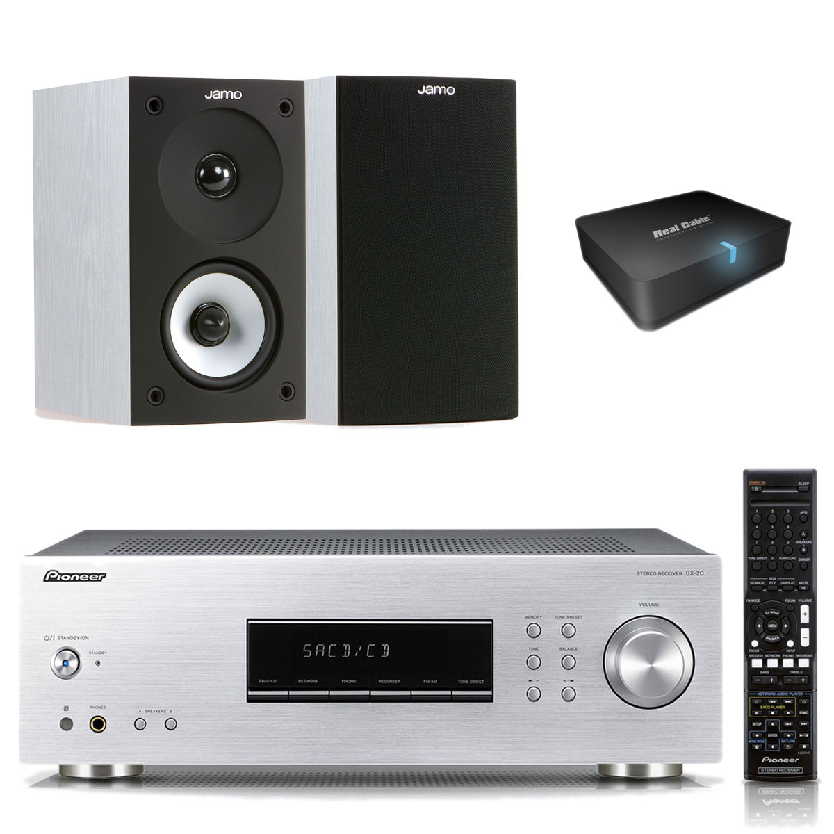 pioneer sx 20 s jamo s 622 white ash real cable iplug btr ensemble hifi pioneer sur. Black Bedroom Furniture Sets. Home Design Ideas