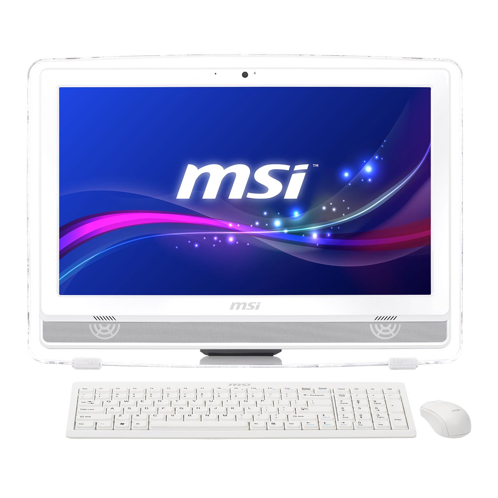 """PC de bureau MSI Wind Top AE220-032XEU AMD Quadri-Coeur E2-3800 4 Go 500 Go LED 21.5"""" Graveur DVD Wi-Fi N Webcam FreeDOS (Garantie constructeur 1 an enlèvement sur site)"""