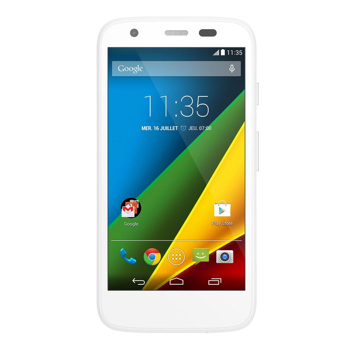 Motorola moto g 4g 8 go blanc mobile smartphone for Photo ecran motorola