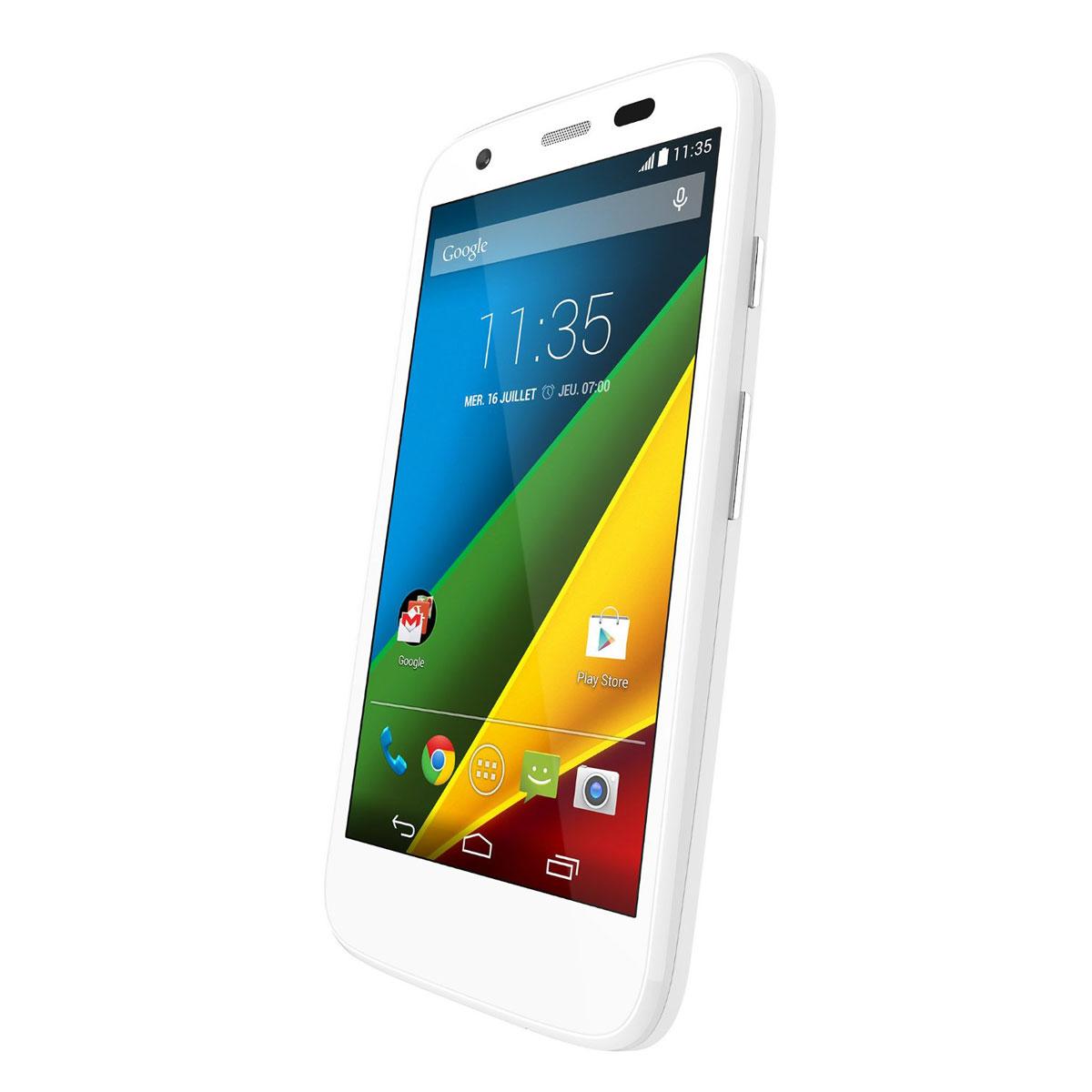 Motorola moto g 4g 8 go blanc mobile smartphone for Photo ecran moto g