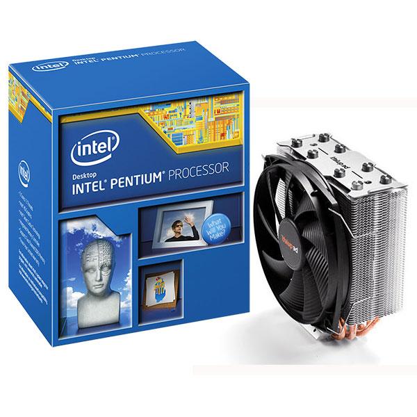 Processeur Intel Pentium G3258 (3.2 GHz) + Be Quiet ! Shadow Rock Slim Processeur Dual Core Socket 1150 Cache L3 3 Mo Intel HD Graphics 0.022 micron + ventilateur Be Quiet! (version boîte - garantie Intel 3 ans)