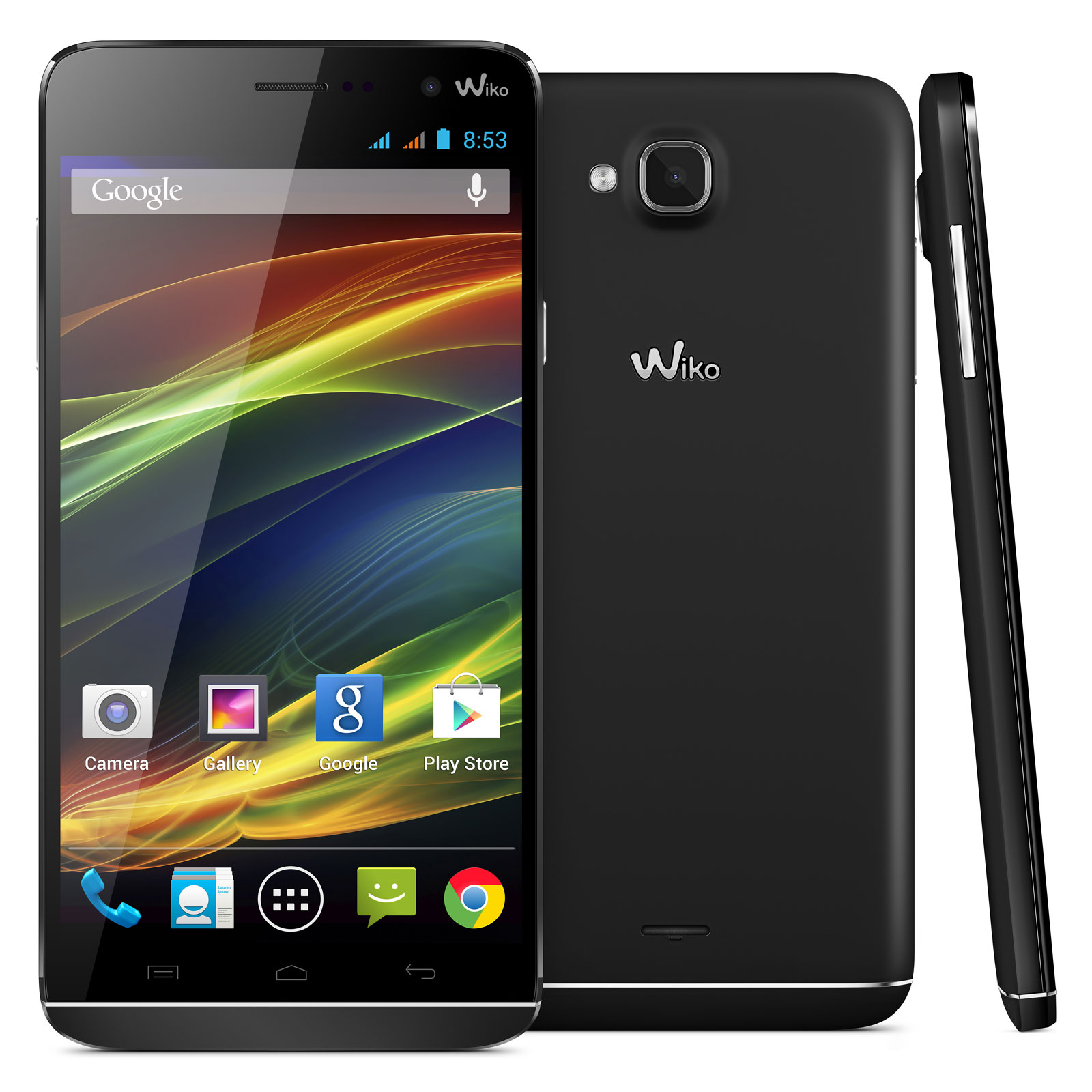 wiko slide noir mobile smartphone wiko sur. Black Bedroom Furniture Sets. Home Design Ideas