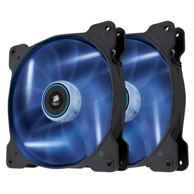 Ventilateur boîtier Corsair Air Series SP120 Blue High Static Pressure (par 2) Paire de ventilateurs de boîtier 120 mm avec LEDs bleues