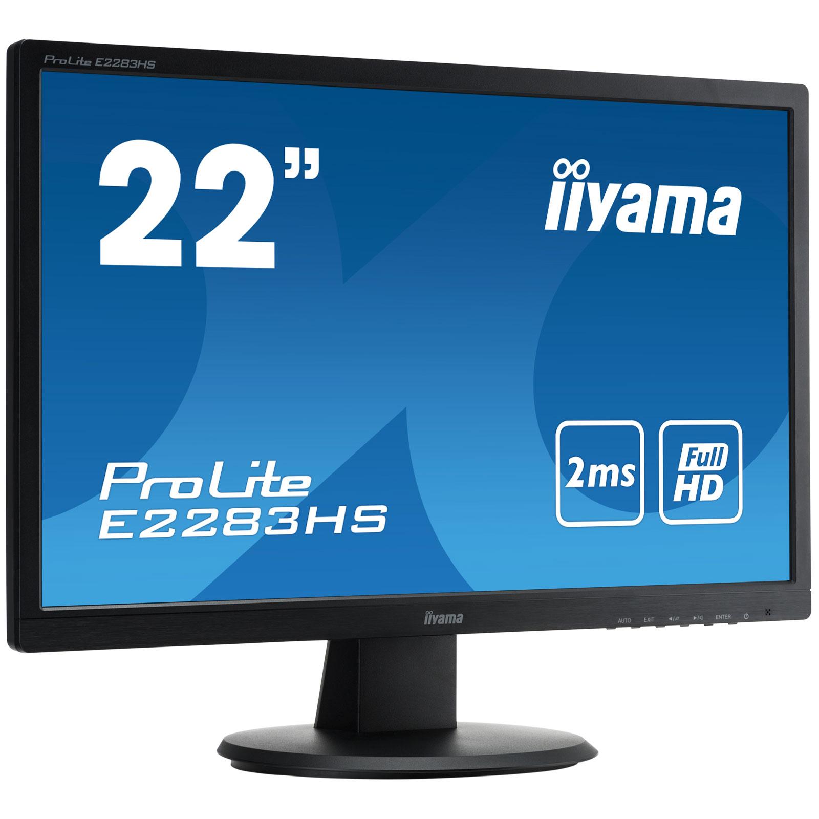 Iiyama 21 5 led prolite e2283hs b1 ecran pc iiyama for Ecran pc tn