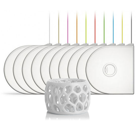 Filament 3D 3D Systems 391162 - Cartouche ABS Blanc pour imprimante 3D Compatible 3D Systems Cube 3