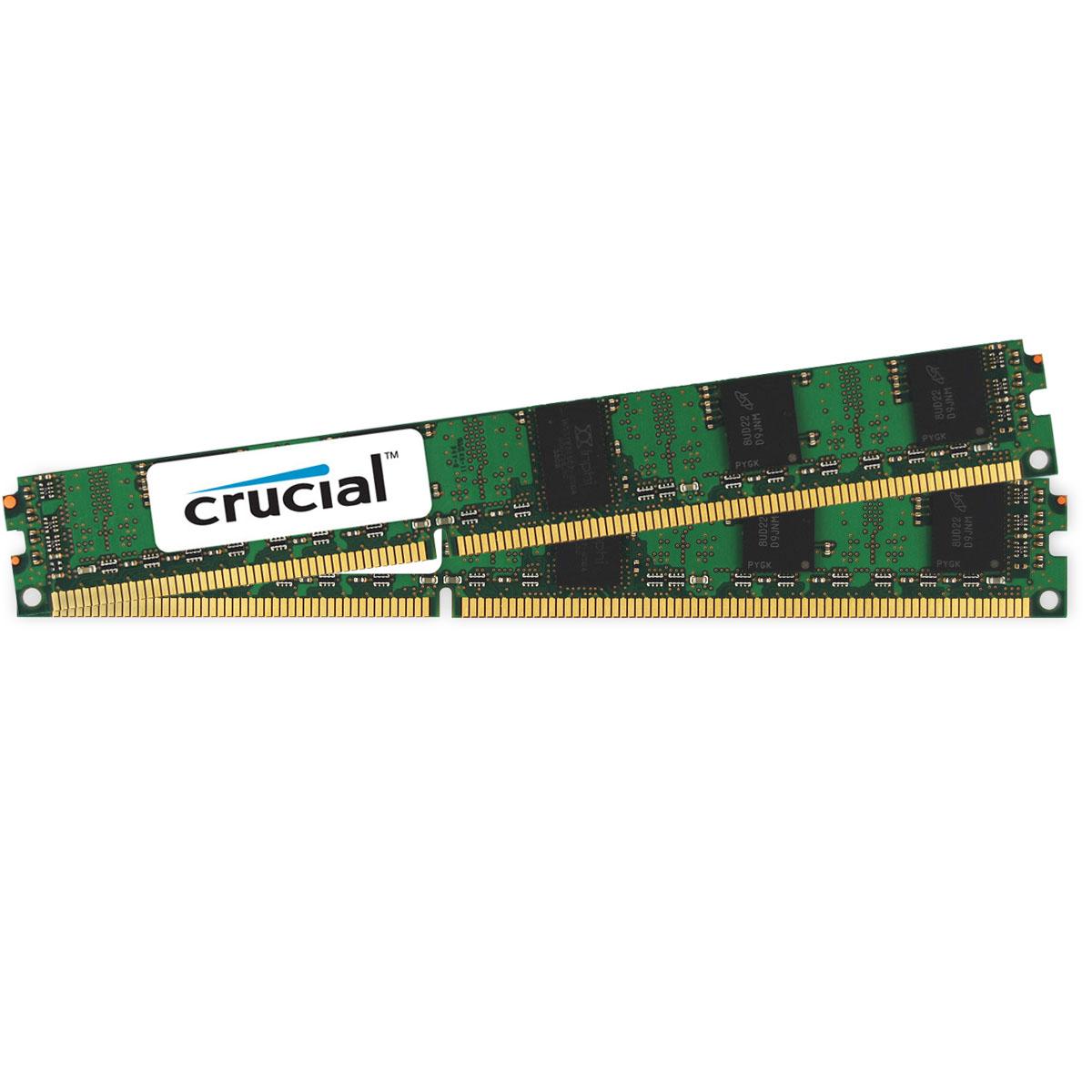 Mémoire PC Crucial DDR3 8 Go (2 x 4 Go) 1866 MHz ECC Registered CL13 DR X8 VLP RAM DDR3 ECC PC14900 - CT2K4G3ERVDD8186D (garantie à vie par Crucial)