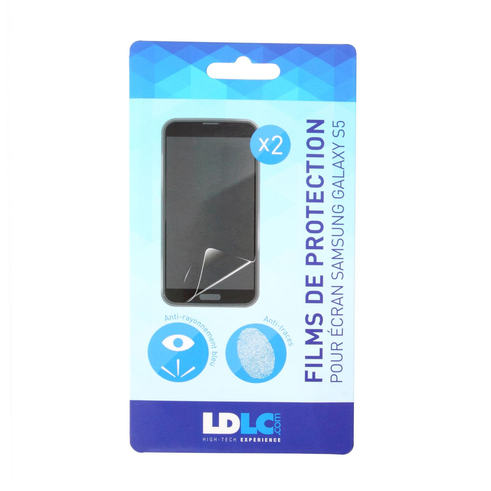 Film protecteur téléphone LDLC film de protection écran pour Galaxy S5 Lot de 2 films de protection d'écran pour Samsung Galaxy S5