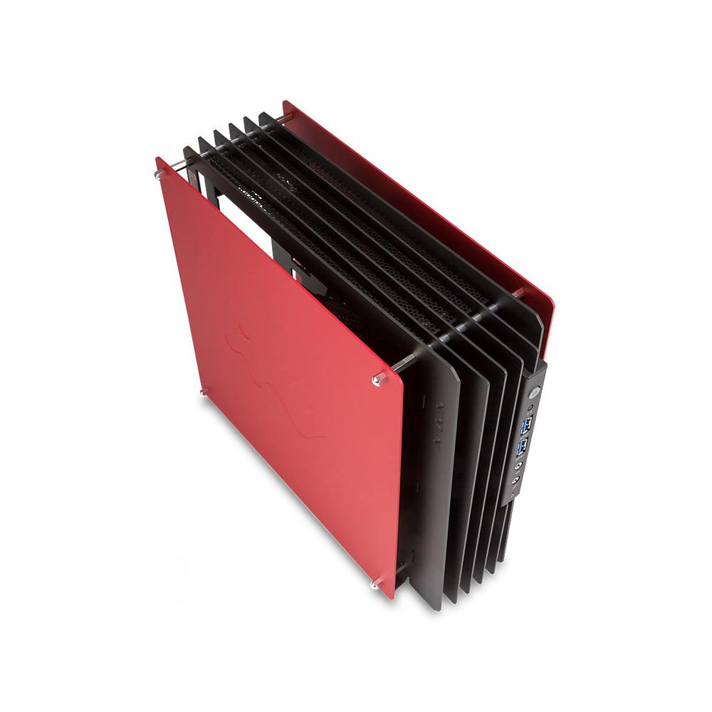 Boîtier PC IN WIN H-FRAME Mini Rouge Boîtier Open Air Mini ITX