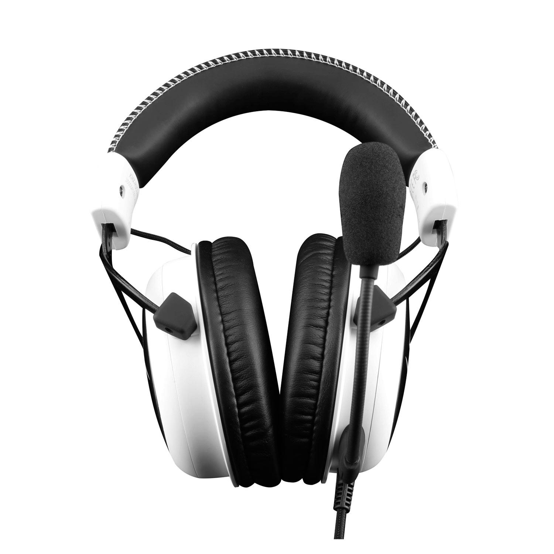 Micro-casque HyperX Cloud - Blanc Casque-micro circum-auriculaire fermé pour gamer