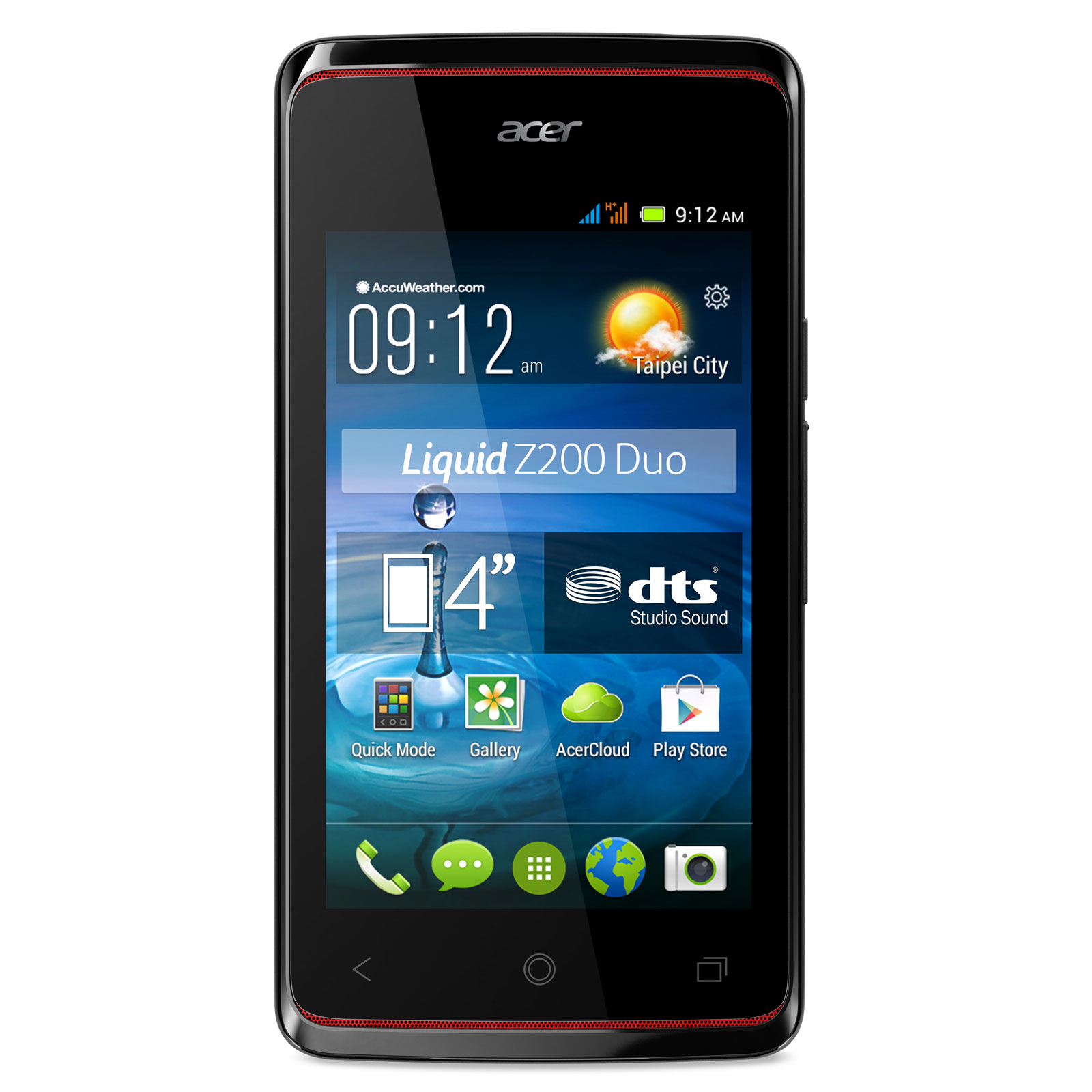 acer liquid z200 duo noir mobile smartphone acer sur. Black Bedroom Furniture Sets. Home Design Ideas