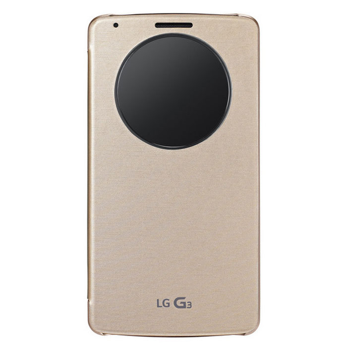 LG Etui Quick Window Circle Or pour LG G3
