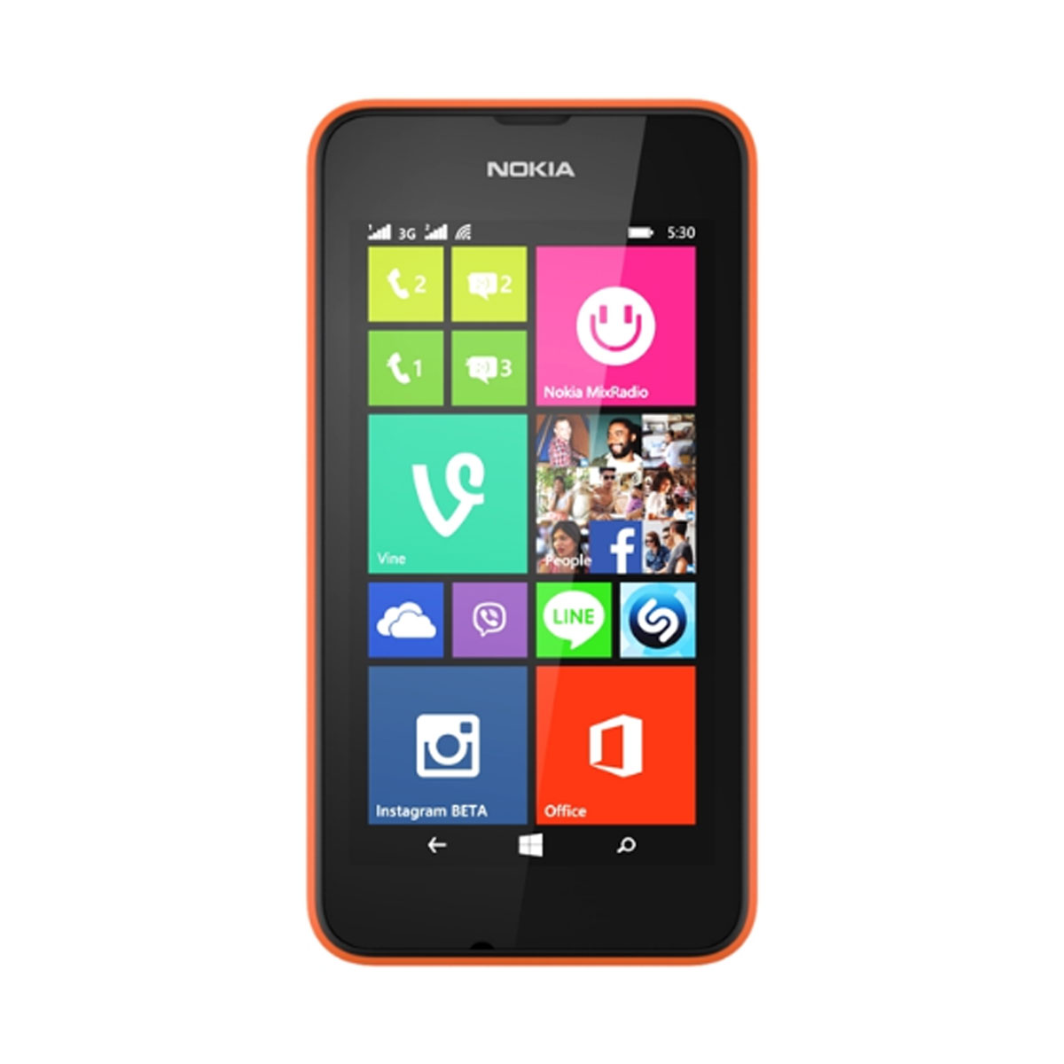 nokia lumia 530 dual sim orange mobile smartphone nokia sur. Black Bedroom Furniture Sets. Home Design Ideas