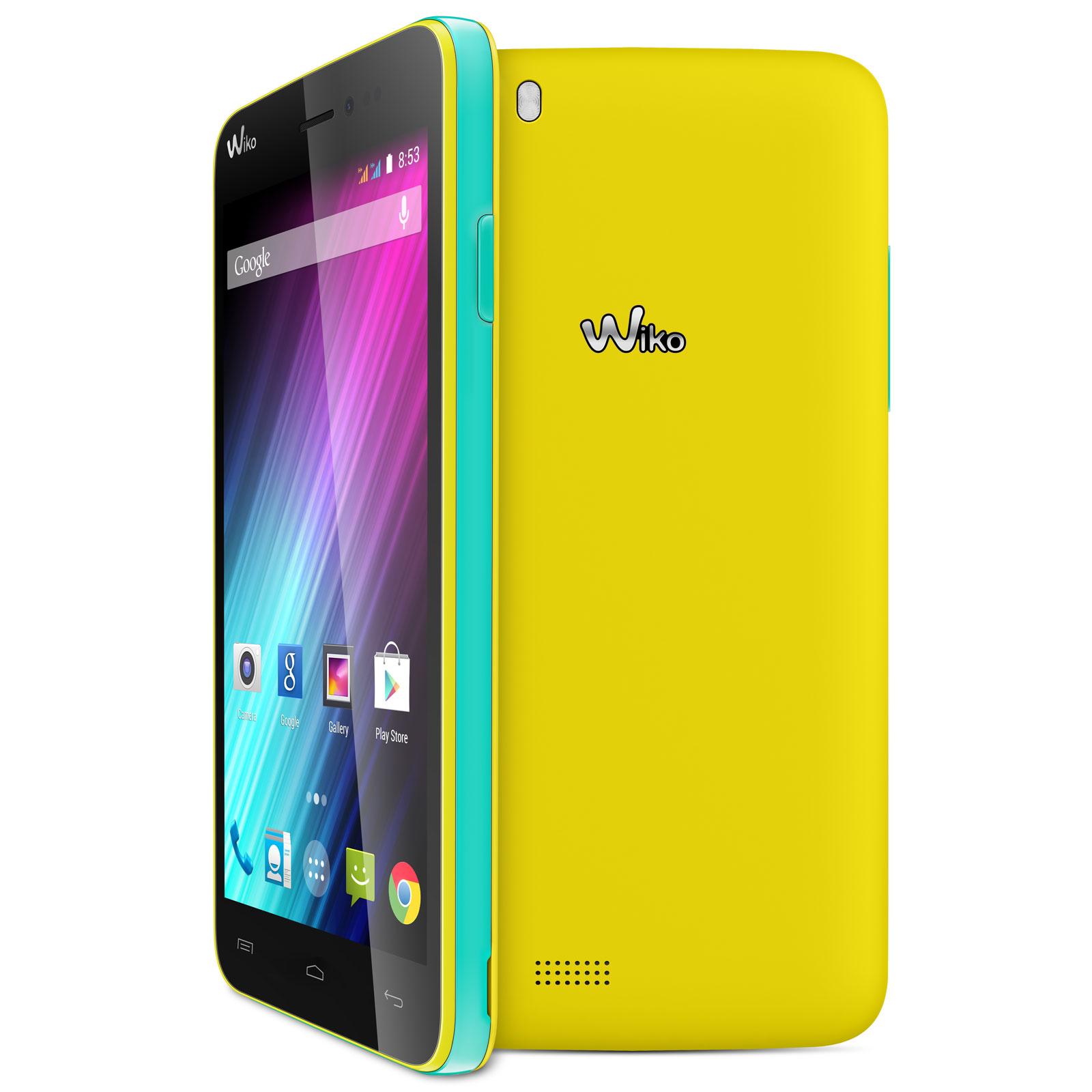 Wiko lenny jaune mobile smartphone wiko sur for Photo ecran wiko