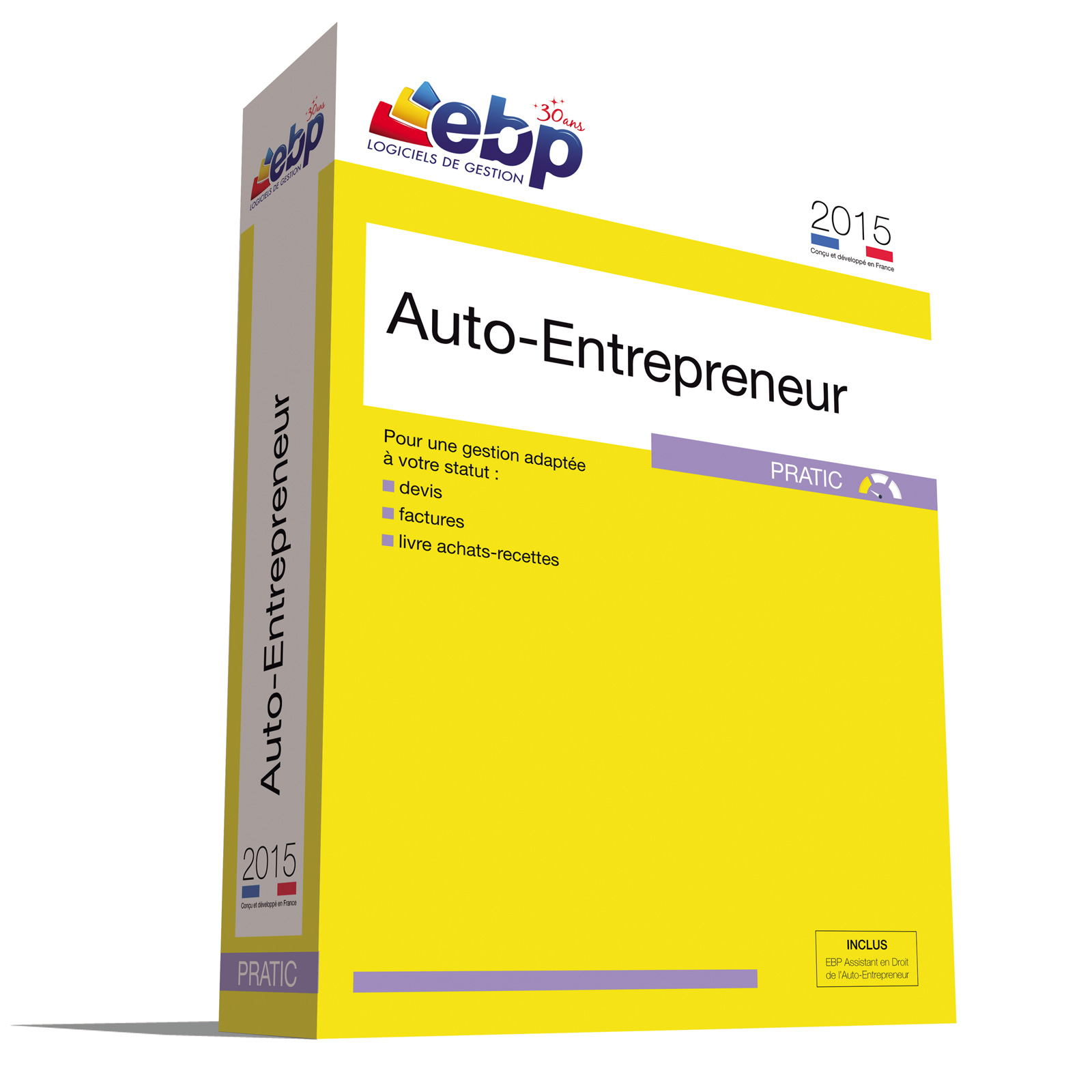 Ebp auto entrepreneur pratic 2015 logiciel comptabilit for Auto entrepreneur paysagiste 2015