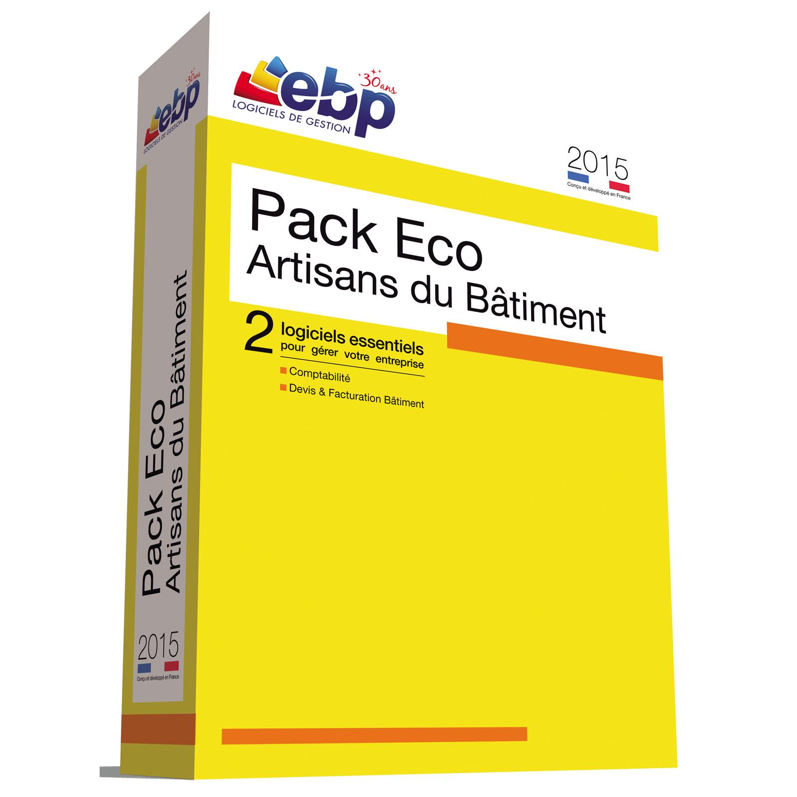 ebp pack eco artisans du b timent 2015 logiciel comptabilit gestion ebp sur. Black Bedroom Furniture Sets. Home Design Ideas