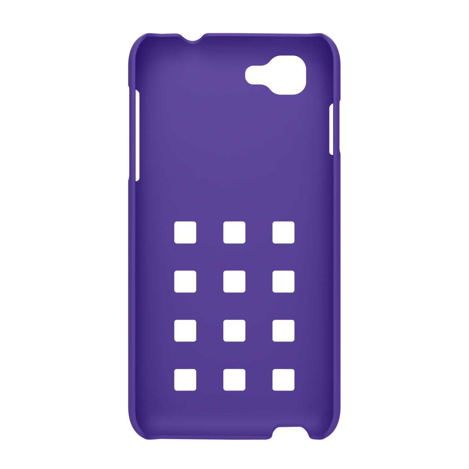 Coque Smartphone Wiko Coque Damier Violette Pour Wiko Kite sG7mm