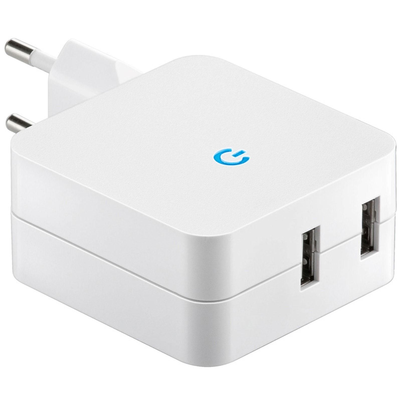 USB Chargeur secteur double USB (4.2 A) Chargeur secteur double USB (4.2 A)