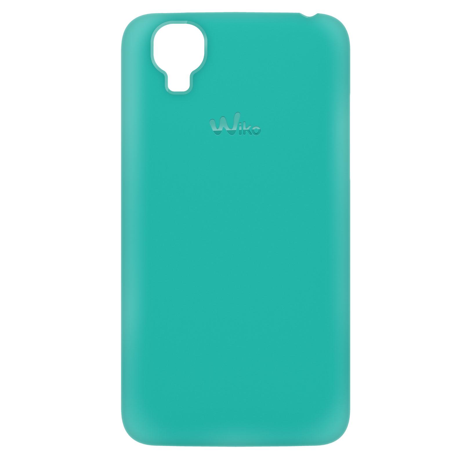 Coque smartphone Wiko 2 coques Fuschia et Turquoise pour Wiko Goa e7Bn0