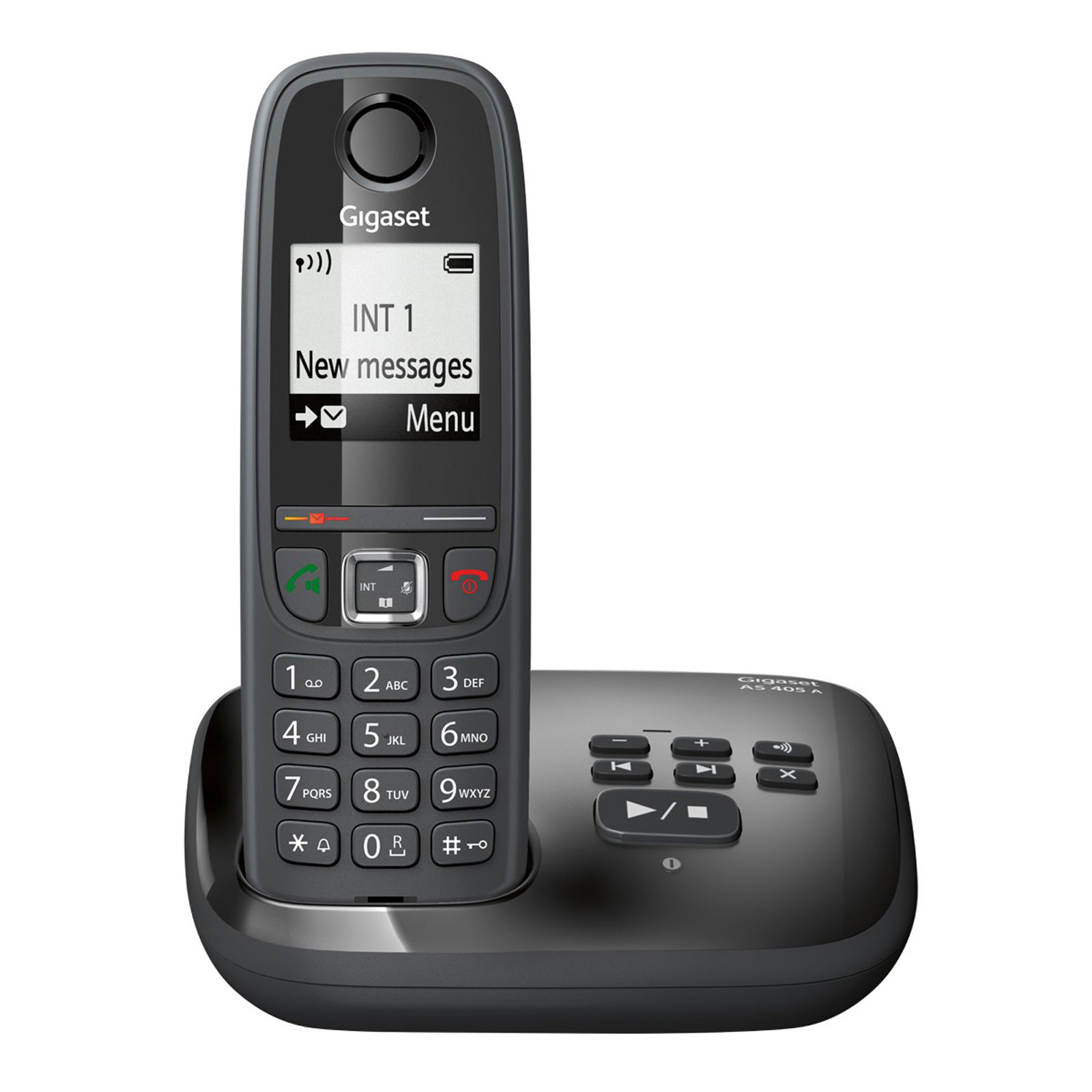 Gigaset as405a noir t l phone sans fil gigaset sur - Telephone sans fil avec repondeur pour senior ...