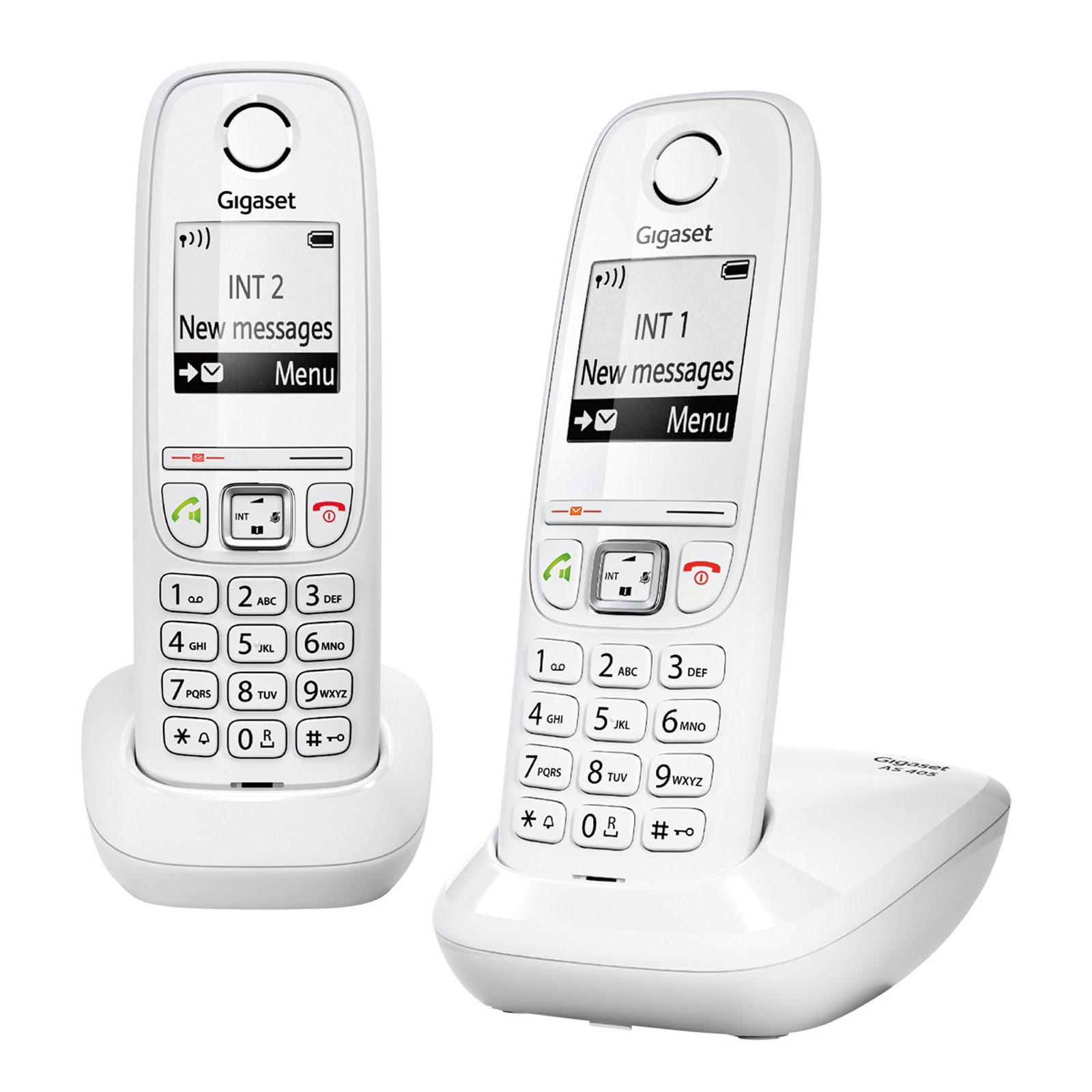 gigaset as405 duo blanc t l phone sans fil gigaset sur. Black Bedroom Furniture Sets. Home Design Ideas