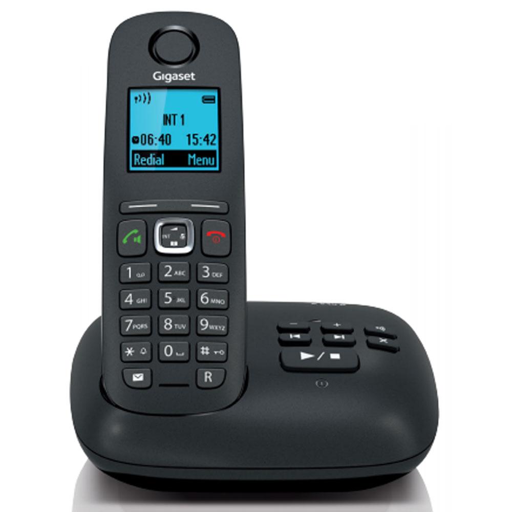 Téléphone sans fil Gigaset A540A Noir Téléphone sans fil DECT - Ecran 4 couleurs - avec répondeur (version française)