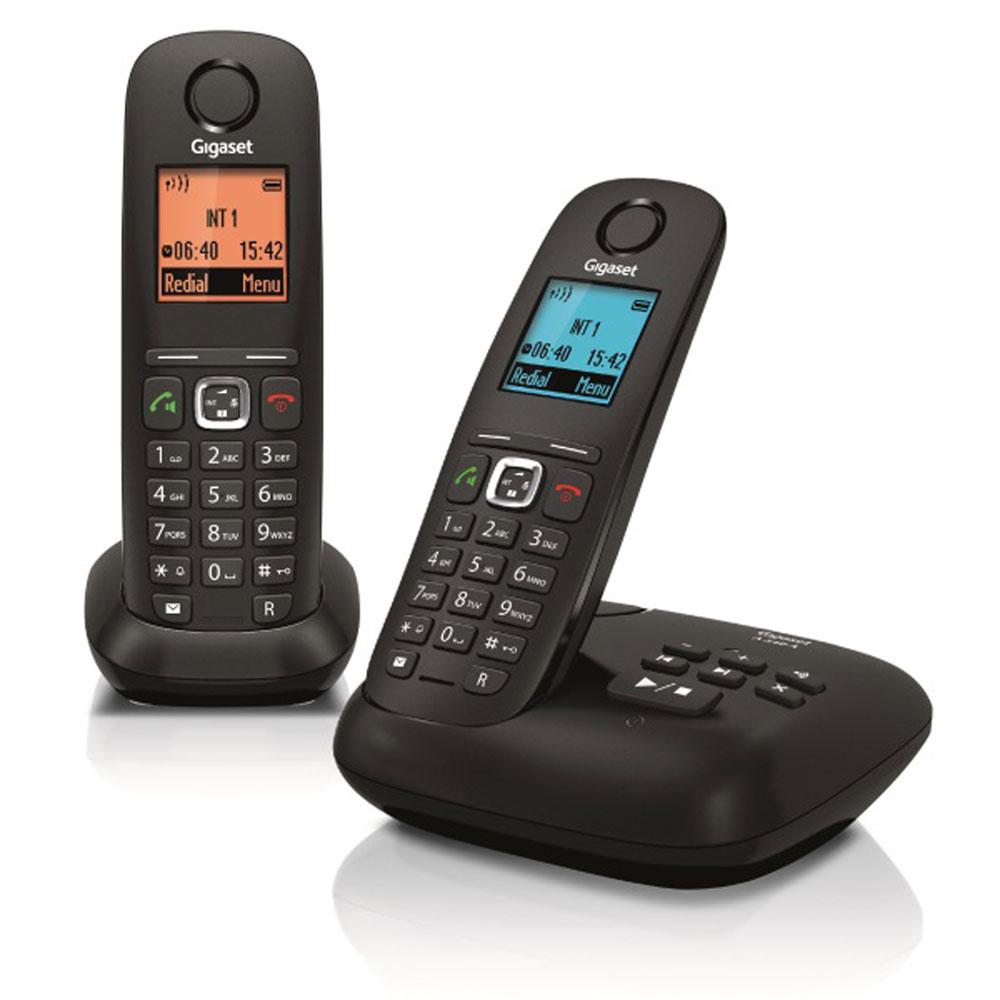 98c97894fd2a8b Gigaset A540A Duo Noir Téléphone sans fil DECT avec 1 combiné  supplémentaire - Ecran 4 couleurs - avec répondeur (version française)