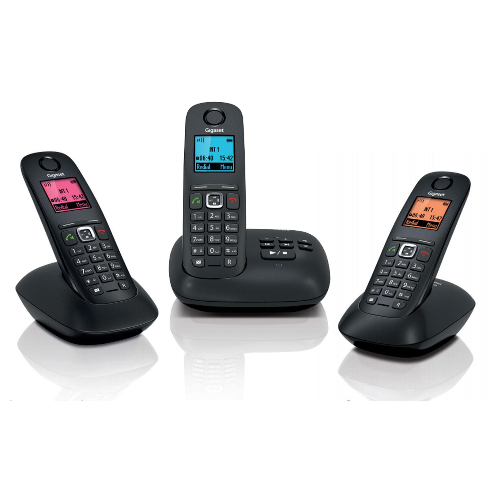 gigaset a540a trio noir t l phone sans fil gigaset sur. Black Bedroom Furniture Sets. Home Design Ideas