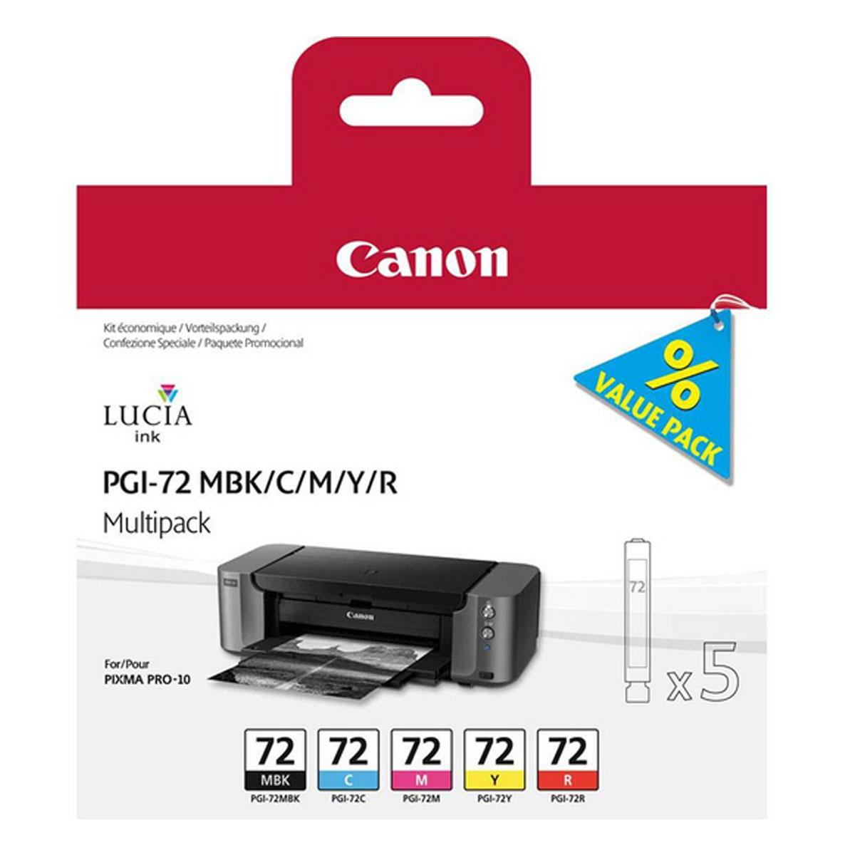 canon pgi 72 mbk c m y r cartouche imprimante canon sur. Black Bedroom Furniture Sets. Home Design Ideas