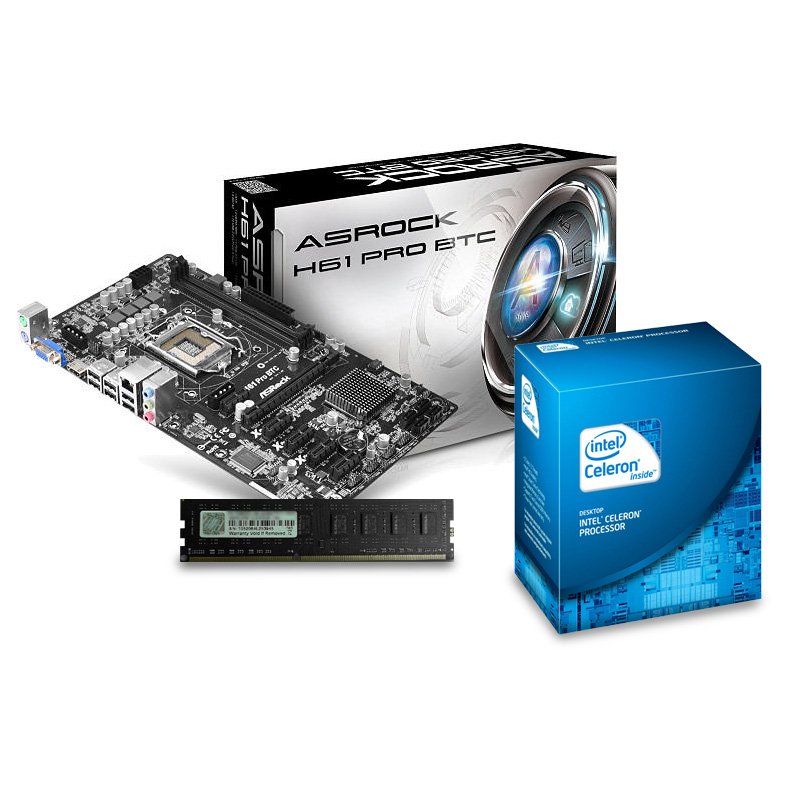 Kit Upgrade PC Celeron ASRock H61 4 Go - Kit upgrade PC ...