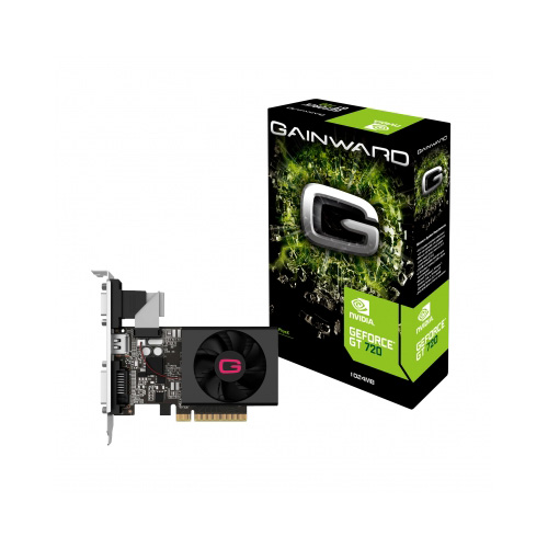 Carte graphique Gainward GeForce GT 720 1 GB 1 Go HDMI/DVI - PCI Express (NVIDIA GeForce avec CUDA GT 720)