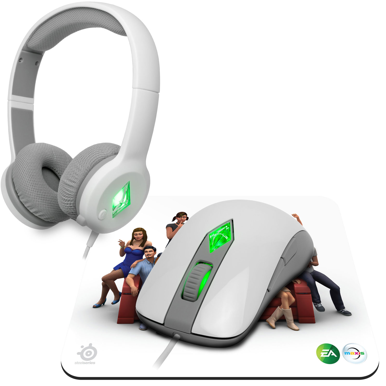 Souris PC SteelSeries The Sims 4 Gaming Pack Souris laser + casque-micro + tapis de souris pour gamer