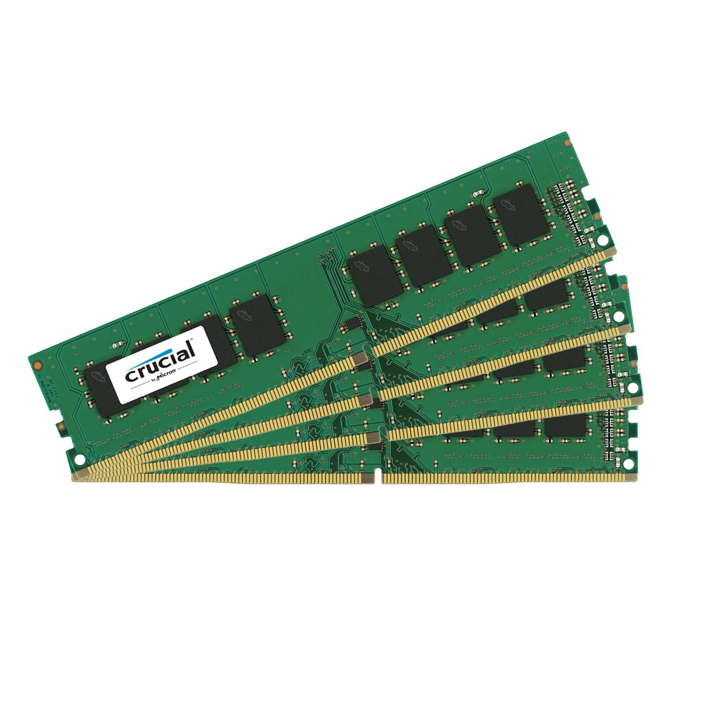 Mémoire PC Crucial DDR4 32 Go (4 x 8 Go) 2133 MHz CL15 SR X8  Kit Quad Channel RAM DDR4 PC4-17000 - CT4K8G4DFS8213 (garantie 10 ans par Crucial)