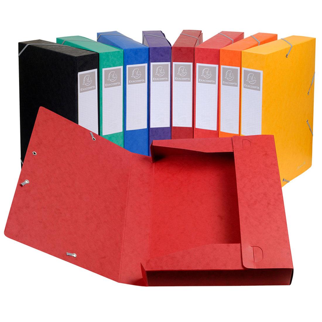 exacompta boites de classement cartobox dos 50 mm assortis. Black Bedroom Furniture Sets. Home Design Ideas